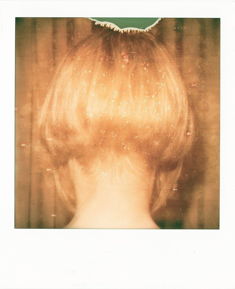 Christine's neck - Impossible Silver Shade instant film (C) Marco Ristuccia